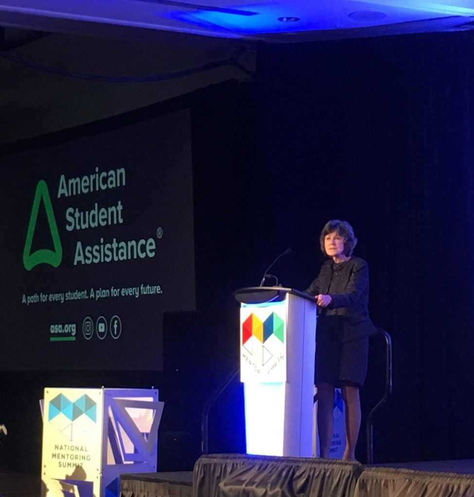 ASA CEO Jean Eddy speaking at the National Mentoring Summit